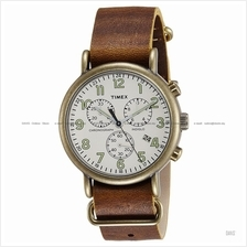 TIMEX TW2P85300 (M) Weekender Chrono Slip-Thru leather cream brown