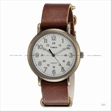 TIMEX TW2P85700 (M) Weekender Slip-Thru leather cream brown