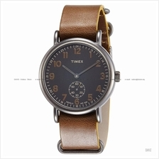 TIMEX TW2P86800 (M) Weekender Small-second Slip-Thru leather black tan