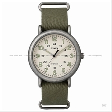 TIMEX TW2P85900 (M) Weekender Slip-Thru canvas cream green
