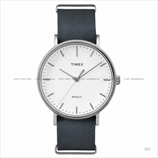 TIMEX TW2P91300 (M) Weekender Fairfield Slip-Thru leather white grey