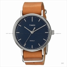 TIMEX TW2P98300 (M) Weekender Fairfield Slip-Thru leather blue tan