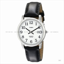 TIMEX T2H281 (M) Easy Reader date leather strap white black