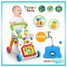 PRADO 4 in 1 Children Music Walker Baby Learn Walk Stand Trolley Toys
