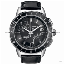 TIMEX T2N495 (M) SL Series Fly-Back Intelligent Chrono leather black