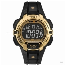 TIMEX TW5M06300 (M) IRONMAN Rugged 30 Full-Size resin black gold
