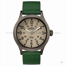 TIMEX TW4B06800 (M) Expedition Scout date mixed nylon leather green