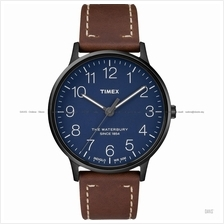 TIMEX TW2R25700 (M) The Waterbury classic leather strap blue brown