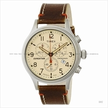 TIMEX TW4B04300 (M) Expedition Scout Chrono leather strap cream brown