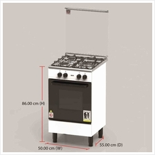 Zanussi Gas Cooker  & Oven ZCG530W (62 L ) 3 Burners