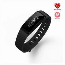 V07 Blood Pressure Heart Rate Monitor Fitness Tracker Smartband (Black