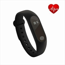 M2 Heart Rate Monitor OLED Touch Screen Smartband (BLACK)