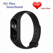 M2 Plus Heart Rate Monitor OLED Touch Screen Smartband (Black)