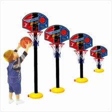 Kids Sports Portable Basketball Toy Set with Stand Ball & Pump Toddler