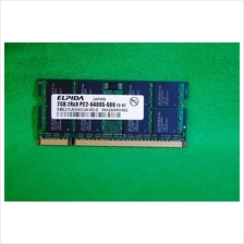 ELPIDA 2GB 2Rx8 PC2-6400S-666 12-E1 Laptop Notebook RAM Memory SO-DIMM