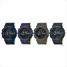 CASIO GA-110LN G-SHOCK ana-digi layered neon resin strap SC