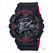 CASIO GA-110HR-1A G-SHOCK ana-digi Black & Red Series bi-color resinSC
