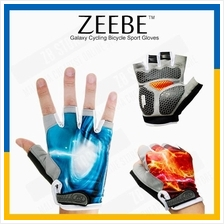 ZEEBE 2pcs Galaxy Gloves Sports Cycling Bicycle Bike Half Finger RB01