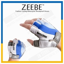 ZEEBE 2pcs Gloves Sports Cycling Bicycle Bike Half Finger RB02