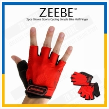 ZEEBE 2pcs Gloves Sports Cycling Bicycle Bike Half Finger RB03