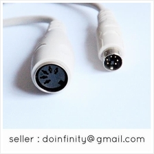 Din5 Female to MiniDin6 PS/2 Male AT Keyboard Adapter Cable Computer