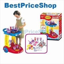 Girls Kitchen Barbecue Play Set Educational Toy Cooking BBQ Sets Gift