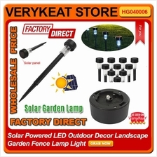 Solar Powered LED Outdoor Decor Landscape Garden Fence Lamp Light