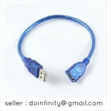 USB 2.0 A Male to Female Extension Short Cable Cord 30cm 0.3m