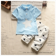Twinkle Stars Collar Button Up Little Boy Set Wear)