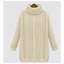 Knitted Sweater Winter Korean High Collar Jacket)