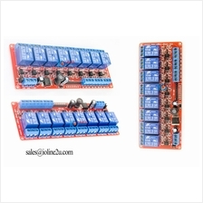 8 Channel 5V 12V 24V Optocoupler isolated Relay Module board Wide Voltage 5~30