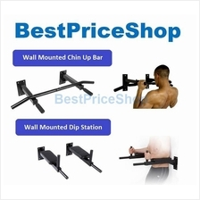 FitExperte Wall Mounted Dip Pull Chin Up Bar Muscle Workout