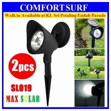 Set of 2pcs MaxSolar SL019 Solar 4-LED Garden SpotLight Lawn LED Lamp