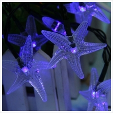HX 30 STARFISH SHAPE SOLAR LED DECORATIVE LAMPS STRING LIGHT FOR CHRISTMAS FES