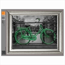 FRAME STICKER - GREEN BICYCLE