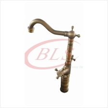 BRASS CROSS WATER TAP ANTIQUE KITCHEN BATHROOM A03