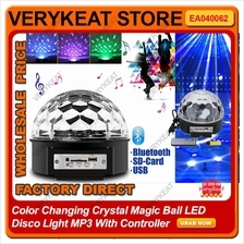 Color Changing Crystal Magic Ball LED Disco KTV Light Bluetooth MP3