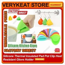 Silicone Thermal Insulate Pot Clip Heat Resistant Kitchen Glove Holder