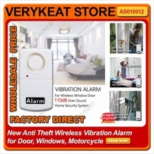 110dB Wireless Vibration Alarm for Door Window Motor Anti Theft