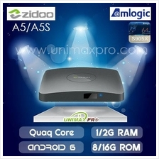 ZIDOO A5 A5S TV BOX - M8S CS918 MIBOX MYIPTV HDTV UNBLOCK UBOX TECH 3