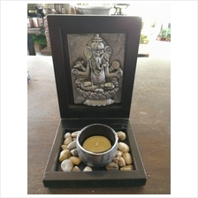 GANESHA HOME DECORATION FH 28 SILVER COLOR