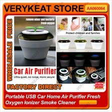 Portable USB Car Home Air Purifier Fresh Oxygen Ionizer Smoke Cleaner