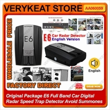 E6 Full Band Car Digital Radar Speed Trap Detector Avoid Summones