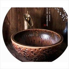 PORCELAIN SINGLE BOWL SINK HOME DECORATION DESIGN 003