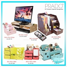 PRADO DIY Wood Desktop Office Organize Makeup Creative Collect