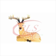POLYRESIN SITTING DEER H 40 CM HOME DECORATION GIFT GARDEN