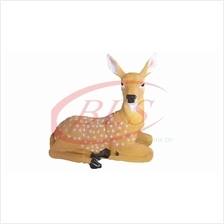 POLYRESIN SITTING DEER H 32 CM HOME DECORATION GIFT GARDEN