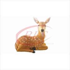 POLYRESIN SITTING DEER H 22 CM HOME DECORATION GIFT GARDEN