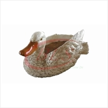 POLYRESIN  DUCK H 14 CM HOME DECORATION GIFT PLANT GARDEN