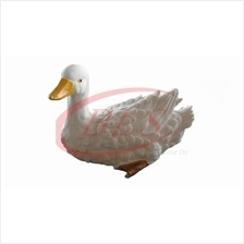 POLYRESIN  WHITE COLOR DUCK H 12 CM HOME DECORATION GIFT PLANT GARDEN